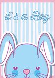 Its a boy baby shower card. Vector illustration graphic design Stock Images