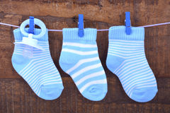 Its a Boy Blue Baby Socks Royalty Free Stock Images