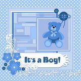 Its a boy card Stock Image
