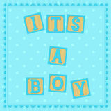 Its a boy card with cubs Royalty Free Stock Photography