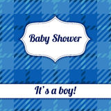 Its a boy card with plaid. Vector Its a boy card with plaid Stock Photography