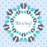 Its a boy card template. Stock Images