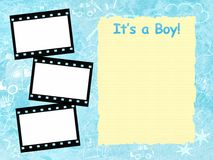 Its a boy framework template. Its a boy blue template insert your text and photos Royalty Free Stock Photo