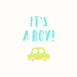 Its a boy greeting card. Stock Photography