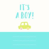 Its a boy greeting card. Royalty Free Stock Photo