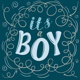 Its a boy poster. Vector illustration. shower party invitation clip art Royalty Free Stock Images