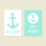 Its a boy. Set of two greeting cards Stock Photo