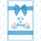 Its a boy. Template for baby shower Stock Image