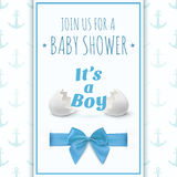 Its a boy. Template for baby shower celebration Stock Photos