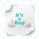 Its a boy. Template for baby shower celebration Royalty Free Stock Photo