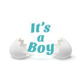Its a boy. Template for baby shower Royalty Free Stock Photo