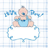 Its a boy vector announcement card Royalty Free Stock Photo