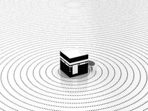 Its the Center of Faith. Kabah being the center of faith for Muslims around the world Royalty Free Stock Image