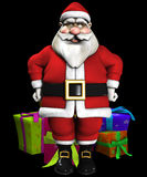 Its Christmas Present Time. Father Christmas with a lot of Christmas presents Stock Photography