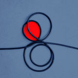 Its complicated . Abstract of a wire (art print Royalty Free Stock Photos