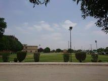 Cricket ground. Its cricket ground in Isra University Hyderabad Pakistan Stock Photography