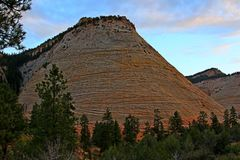 Checkerboard Mesa at Zion National Park royalty free stock images