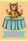 Its a dog eat dog world Royalty Free Stock Photography