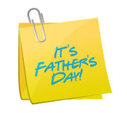 Its fathers day post illustration design Royalty Free Stock Images