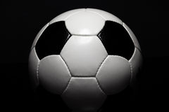 Its about Football. Shot of a traditional Football (Soccer Ball) with its distinctive black and white pattern. This pattern is not a logo or trademark. There are Royalty Free Stock Photography
