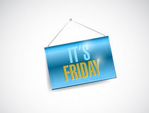 Its friday hanging banner illustration design. Over a white background Royalty Free Stock Photography