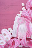 Its a Girl Baby Shower or Nursery background Stock Photos
