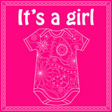Its a girl card with body Royalty Free Stock Images