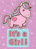 Its a girl card. Stock Image