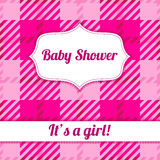 Its a girl card with plaid Royalty Free Stock Photos