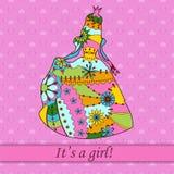 Its a girl card with princess Stock Photos
