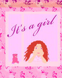 Its a girl card Stock Photo