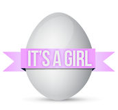 Its a girl egg illustration design Royalty Free Stock Photography