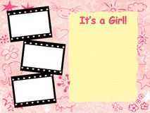 Its a girl framework template stock illustration