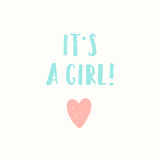 Its a girl greeting card. Royalty Free Stock Image