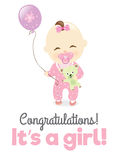 It's a girl! Royalty Free Stock Photography