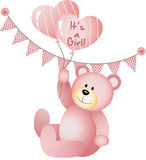 Its a Girl Teddy Bear Royalty Free Stock Photography