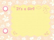 Its a girl template Royalty Free Stock Images