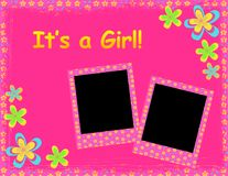 Its a girl template stock illustration