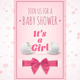 Its a girl. Template for baby shower celebration Royalty Free Stock Photo