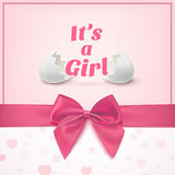 Its a girl. Template for baby shower celebration Stock Photo
