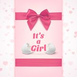 Its a girl. Template for baby shower celebration Royalty Free Stock Photography