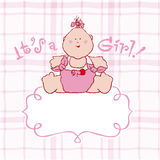 Its a girl vector announcement card Stock Image