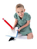 Its homework time Royalty Free Stock Photos