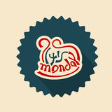 Its monday text lettering Stock Photos