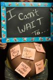 Its 9 months done, when will u come ?. Waiting for u baby royalty free stock images