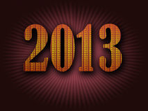 Its now 2013. The year 2013 is here Royalty Free Stock Photography