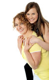 Its piggyback time. Fun time Royalty Free Stock Image