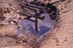 oil pit pollution Royalty Free Stock Photo