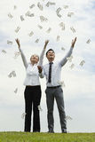 Its raining money Stock Photos