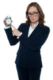 Its sad, you are late for the work again! Stock Image